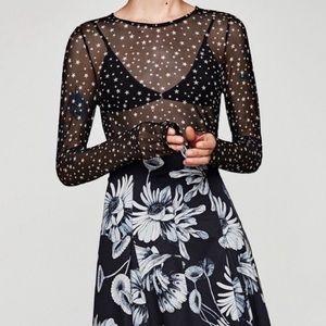 Zara Sheer Star Top ✨🤩⭐️
